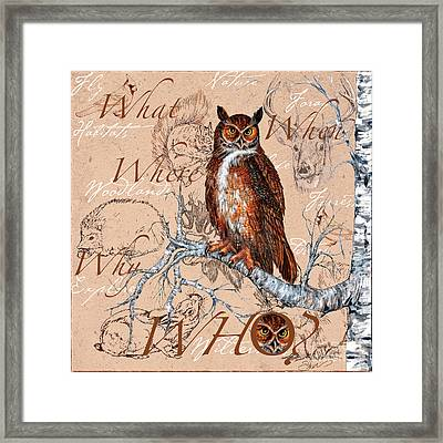 Who Owl Framed Print