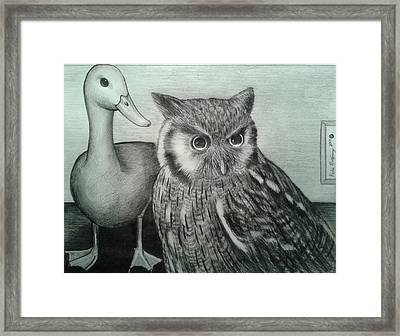 Who Quack Framed Print by Richie Montgomery