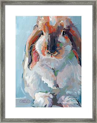 Who Said Easter Framed Print by Kimberly Santini