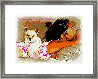 Who Says? Framed Print by Heidi Manly