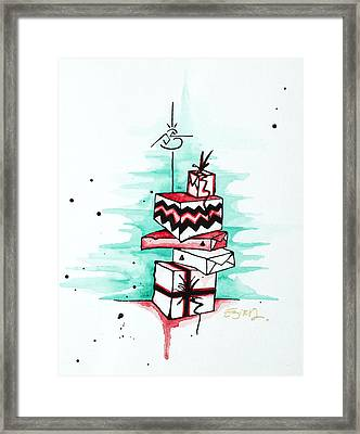 Who Shook The Box Framed Print by Emily Pinnell