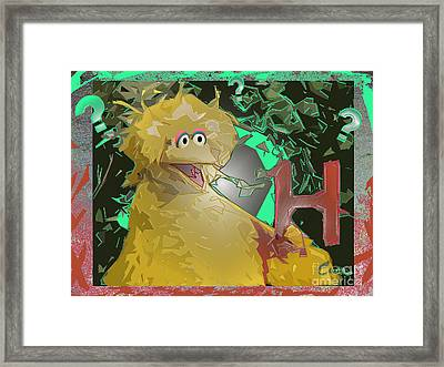 Who The Hell Is Next Framed Print by Feile Case