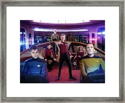 Who Trek Framed Print by Brett Hardin
