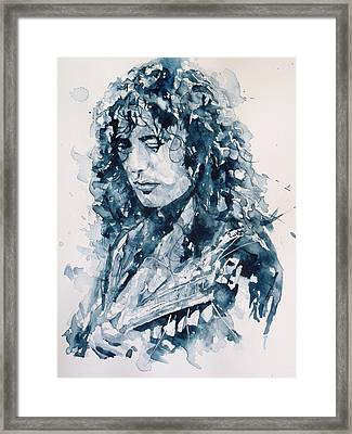 Whole Lotta Love Jimmy Page Framed Print