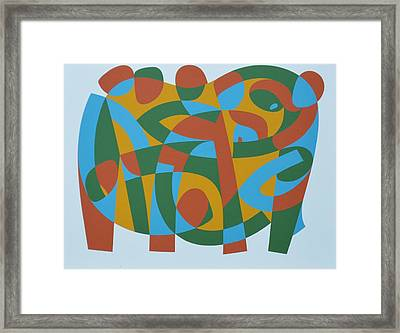 Wholeness In Brokenness, 1989 Acrylic On Board Framed Print by Ron Waddams