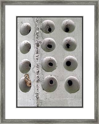 Wholly Holes 1 Framed Print by Marlene Burns