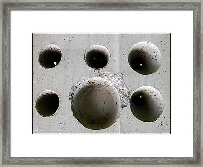 Wholly Holes 5 Framed Print by Marlene Burns