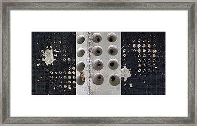 Wholly Holes Trio Framed Print by Marlene Burns