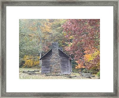 Framed Print featuring the photograph Whorley Homeplace At Rocky Knob Cabins Blue Ridge Parkway by Diannah Lynch