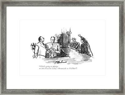 Who's Going To Plunge Us Into Fascism Today - Framed Print by Perry Barlow