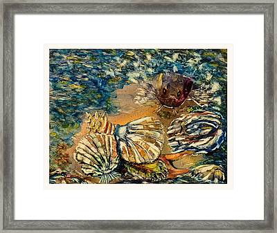 Who's Got The Pearl? Framed Print