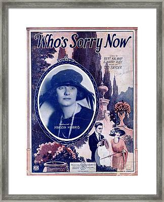 Who's Sorry Now Framed Print by Mel Thompson