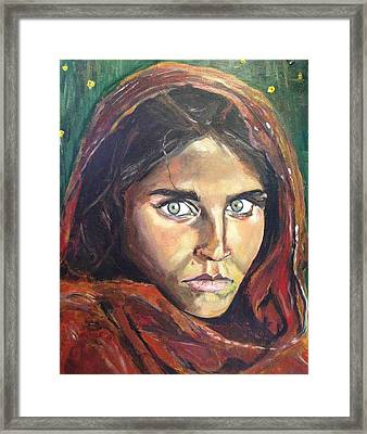 Who's That Girl? Framed Print by Belinda Low