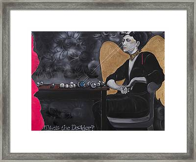 Who's The Decider? Framed Print by Darlene Graeser