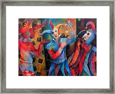 Who's The Fool. Framed Print
