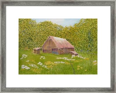 Whose Barn - What Barn - My Barn  Framed Print by Joel Deutsch