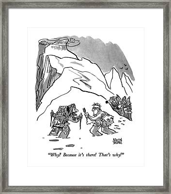 Why?  Because It's There!  That's Why! Framed Print