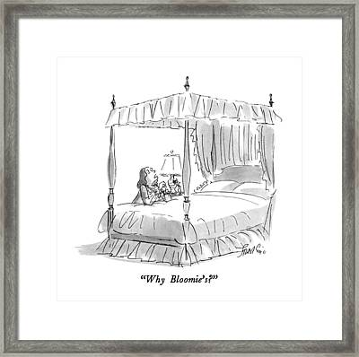 Why Bloomie's? Framed Print by Edward Frascino