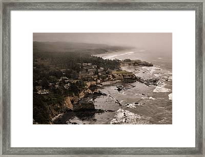 Why Boats Sink Framed Print by Monte Arnold