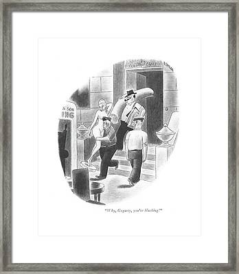 Why, Gogarty, You're Blushing! Framed Print by Richard Taylor