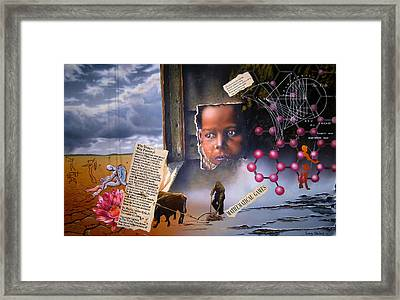 Why Hunger? Why Poverty? Framed Print by Sam Shacked