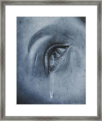 Why Is She Crying Framed Print by David Dunne