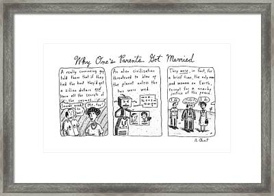 Why One's Parents Got Married: Framed Print by Roz Chast