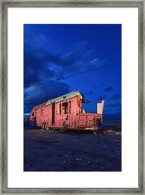Why Pink Airstream Travel Trailer Framed Print