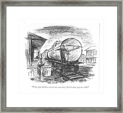 Why, That Division Moved Out Yesterday! Didn't Framed Print by Alan Dunn