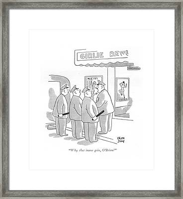 Why That Inane Grin Framed Print by Chon Day