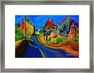 Wibbly Wobbly Village Framed Print