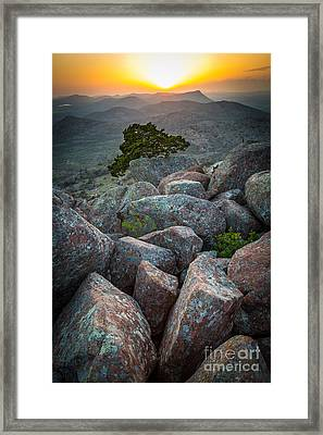 Wichita Mountains Framed Print by Inge Johnsson