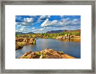 Wichita Mountains Framed Print by Jeffrey Kolker