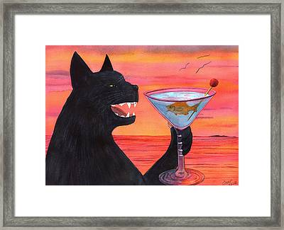 Wicked Kittys Cattini Framed Print by Catherine G McElroy