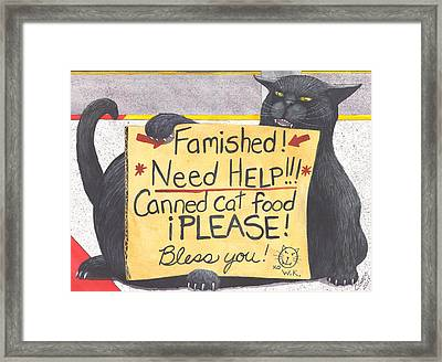 Wicked Kitty's Corner Framed Print by Catherine G McElroy