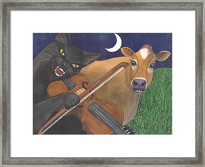 Wicked Kittys Got The Fiddle Framed Print by Catherine G McElroy