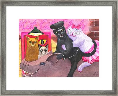 Wicked Kitty's Hog Framed Print by Catherine G McElroy