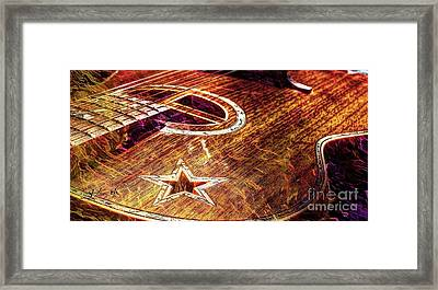 Wicked Music Digital Guitar Art By Steven Langston Framed Print by Steven Lebron Langston