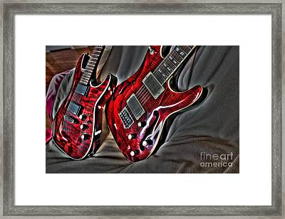 Wicked Relations Digital Guitar Art By Steven Langston Framed Print by Steven Lebron Langston