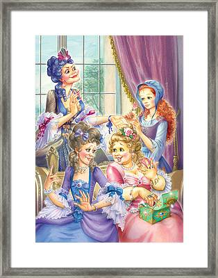 Wicked Sisters  Framed Print by Zorina Baldescu