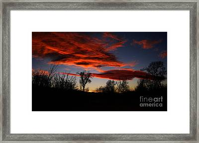 Framed Print featuring the photograph Wicked Skies by Janice Westerberg