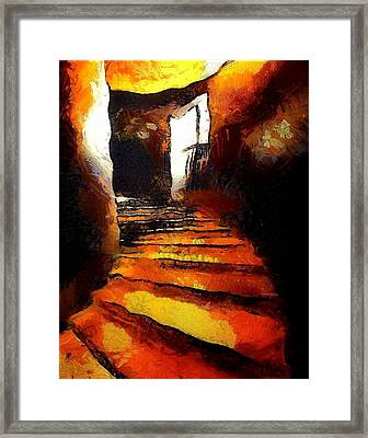 Wicked Stairs Framed Print by Gun Legler