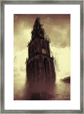 Wicked Tower Framed Print by Ayse Deniz