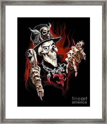 Wicked Voodoo Doctor Framed Print