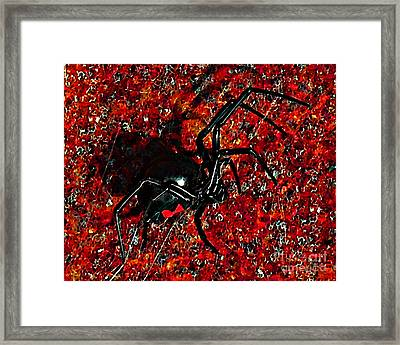 Wicked Widow - Rouge Framed Print