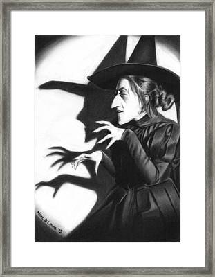 Wicked Witch Framed Print by Marc D Lewis