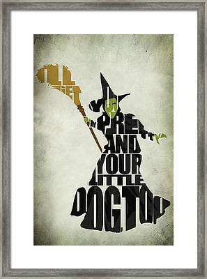 Wicked Witch Of The West Framed Print by Ayse Deniz