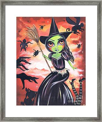 Wicked Witch Of The West Framed Print by Jaz Higgins
