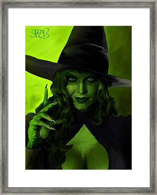 Wicked Witch Of The West Framed Print by Mark Spears