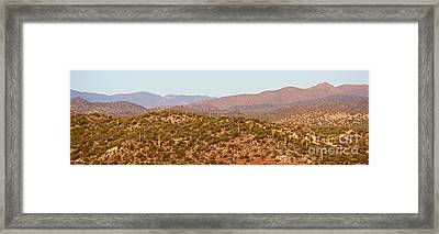 Wickenburg Mountains Framed Print